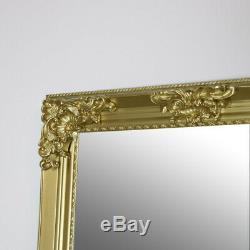 Extra, Extra Grand Ornement Or Cadrage En Pied Millésime Mur / Sol Miroir Shabby Chic