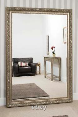 Extra Grande Pleine Longueur Silver Bevelled Mirror 6ft10 X 4ft10 208cm X 147cm