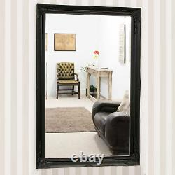 Extra Large Antique Black Mirror Full Length Long Wall Wood 170cm X 109cm