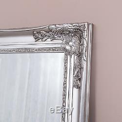 Extra Large Argent Miroir Cadrage Mur Ornement Chambre Hall D'entrée 200 X 100 CM