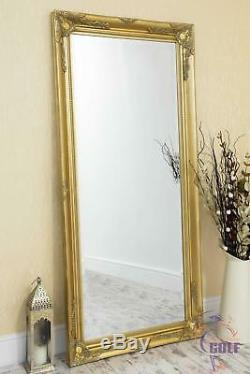 Extra Large Cadrage Classique Ornement Styled Or Miroir 5ft7 X 2ft7 (170x79cm)