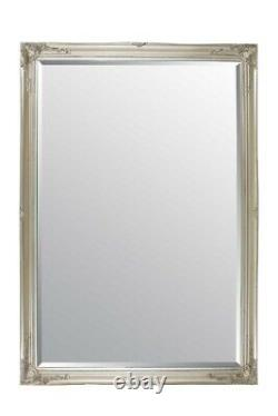 Extra Large Classic Full Length Leanersilver Mirror 6ft7 X 4ft7 201cm X 140cm