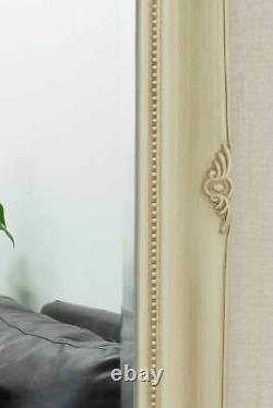 Extra Large Full Length Classic Ornate Ivory Mirror 6ft7 X 4ft7 201cm X 140cm