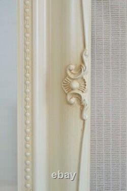 Extra Large Full Length Cream Floor Standing Mirror Antique 5ft6x1ft6 167 X 46cm