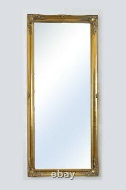 Extra Large Full Length Gold Wall Mirror Antique 5ft6 X 2ft6 167cm X 76cm