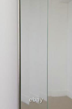 Extra Large Full Length Silver Tout Miroir Mural En Verre 6ft7 X 4ft7 202cm X 141cm