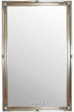 Extra Large Full Length Silver Wall Mirror Antique 5ft6 X 3ft6 167cm X 106cm