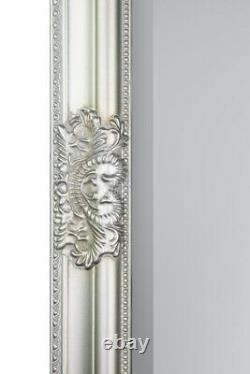 Extra Large Full Length Wall Mirror Dark Silver Antique 5ft3x2ft5 160cm X 73cm