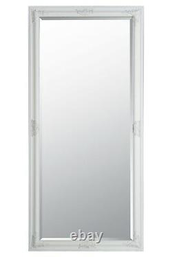 Extra Large Full Length Wall Mirror White Antique 5ft3 X 2ft5 160cm X 73cm