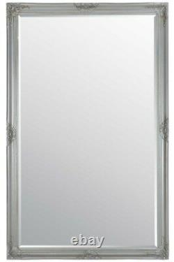 Extra Large Silver Antique Full Length Wall Mirror 5ft6 X 3ft6 165.5cm X 105.5cm