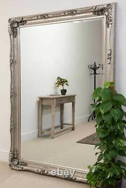 Extra Large Silver Antique Shabby Full Length Chic Wall Mirror 154cm X 215cm