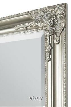 Extra Large Silver Antique Vintage Full Length Mirror 6ft X 2ft4 180cm X 70cm