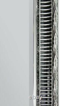 Extra Large Silver Antique Wall Mirror Pleine Longueur 6ft7 X 4ft7 201cm X 140cm