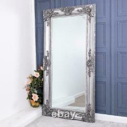 Extra Large Silver Mirror Ornate Heavily Full Length Wall Home 180cm X 90cm