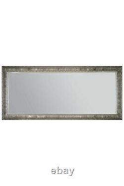 Extra Large Silver Wall Mirror Antique Vintage Pleine Longueur 165x75cm 5ft6 X 2ft6