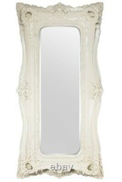 Extra Large Very Ornate Full Length Antique White Wall Mirror 6ft X 3ft