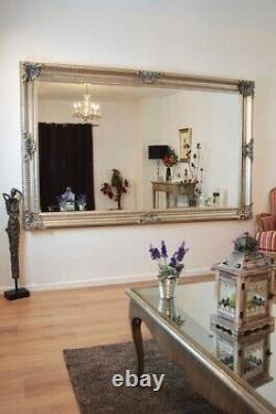 Extra Large Wall Mirror Antique Vintage Full Length Silver 8ft X 5ft 241x147cm