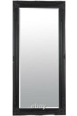 Extra Large Wall Mirror Black Antique Vintage Pleine Longueur 5ft7 X 2ft7 170 X 79cm