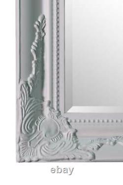 Extra Large Wall Mirror Blanc Antique Vintage Pleine Longueur 6ft7x4ft7 201 X 140cm