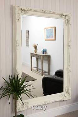 Extra Large Wall Mirror Cream Antique Vintage Pleine Longueur 4ft1x6ft1 1235x185cm