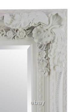 Extra Large Wall Mirror Cream Antique Vintage Pleine Longueur 5ft1x7ft1 154 X 215cm
