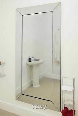 Extra Large Wall Mirror Full Length Silver Bathroom 5ft9 X 2f9 174cm X 85cm