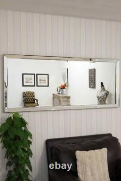 Extra Large Wall Mirror Full Length Silver Long 5ft10 X 2ft6 178cm X 76cm