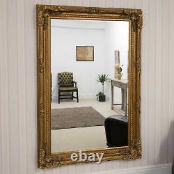 Extra Large Wall Mirror Gold Antique Vintage Pleine Longueur 4ft1x6ft1 1235x185cm