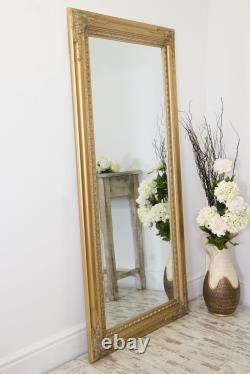 Extra Large Wall Mirror Gold Antique Vintage Pleine Longueur 5ft10x2ft10 178 X 87cm
