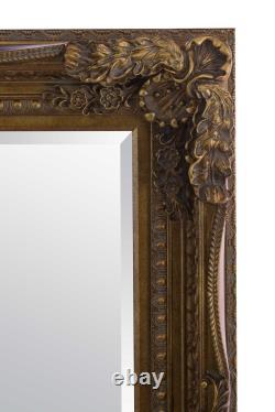 Extra Large Wall Mirror Gold Antique Vintage Pleine Longueur 5ft1x7ft1 154 X 215cm