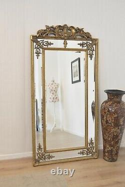 Extra Large Wall Mirror Gold Antique Vintage Pleine Longueur 6ft X 3ft 183cm X 92cm