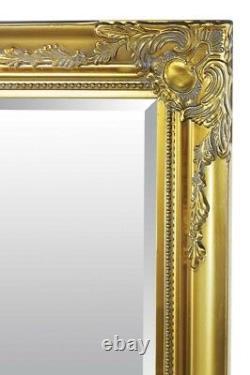 Extra Large Wall Mirror Gold Antique Vintage Pleine Longueur 6ft7x4ft7 201 X 140cm
