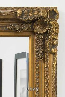 Extra Large Wall Mirror Gold Full Length Vintage Wood 4ft X 3ft 122 X 92cm