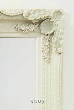 Extra Large Wall Mirror Ivoire Full Length Vintage Wood 6ft X 3ft 183cm X 91cm