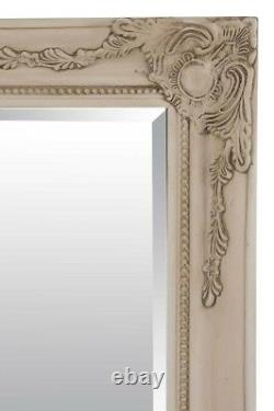Extra Large Wall Mirror Ivory Antique Vintage Pleine Longueur 5ft7x3ft7 170 X 109cm