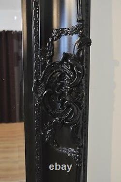 Extra Large Wall Mirror Noir Décoratif Antique Pleine Longueur 7ftx5ft 213x152cm