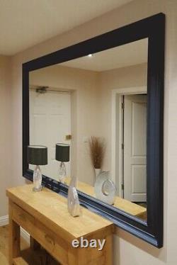 Extra Large Wall Mirror Noir Encadré Moderne Pleine Longueur 6ft 9 X 4ft 9 206x145cm