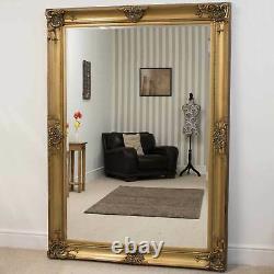 Extra Large Wall Mirror Or Décoratif Antique Pleine Longueur 7ftx5ft 213x152cm