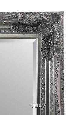Extra Large Wall Mirror Silver Antique Vintage Pleine Longueur 4ft1x6ft1 1235x185cm