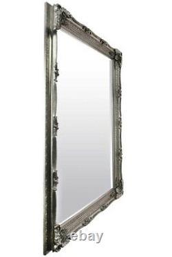 Extra Large Wall Mirror Silver Antique Vintage Pleine Longueur 5ft1x7ft1 154 X 215cm