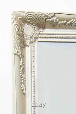 Extra Large Wall Mirror Silver Antique Vintage Pleine Longueur 6ft7x4ft7 201 X 140cm