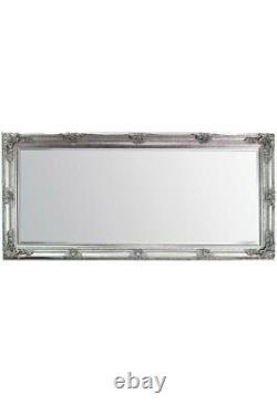 Extra Large Wall Mirror Silver Argent Bois Entier Pleine Longueur 5ft5 X 2ft7 168cm X 78cm