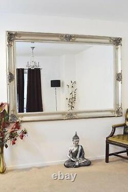 Extra Large Wall Mirror Silver Décoratif Antique Pleine Longueur 7ftx5ft 213x152cm