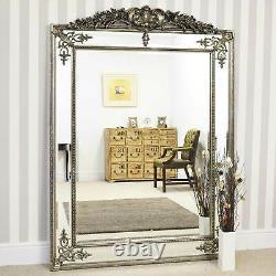 Extra Large Wall Mirror Silver Ornate Vintage Full Length 6ft4x4ft6 192 X 134cm