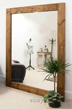 Extra Large Wall Mirror Solid Wood Framed Full Length 6ft11x4ft11 211cm X 149cm