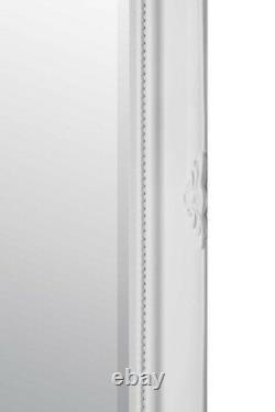 Extra Large Wall Mirror White Antique Vintage Pleine Longueur 5ft7x3ft7 170 X 109cm