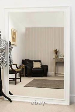 Extra Large Wall Mirror White Framed Modern Full Length 6ft 9 X 4ft 9 206x145cm