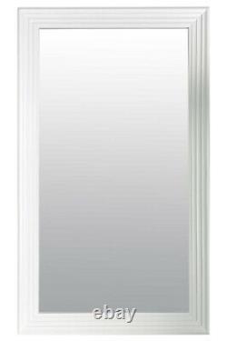 Extra Large White Modern Wall Mirror Retro Pleine Longueur 5ft6x2ft6 1672mmx756mm