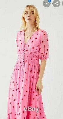 Fantôme Valentina Rose Maxi Love Heart Dress Large (14) Rrp £ 185