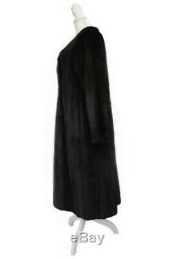 Femmes Mesdames X-large Cadrage Réel Blackglama Noir Manteau En Fourrure De Vison Veste